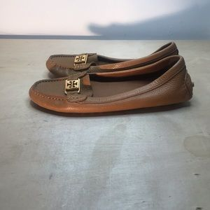 Tory Burch brown leather moccasins size 7.5